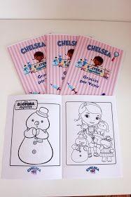Para el cumpleaños de Chelsea hicimos la Torta, las Golosinas y un librito para colorear, todo de Doctora Juguetes. Aquí algunas imágenes.  ...