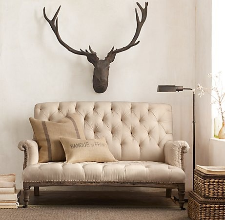 I love this settee! Big Style, Small Spaces | Restoration Hardware