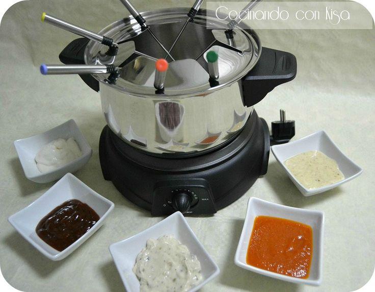 Cocinando con Kisa: Fondue de carne con varias salsas