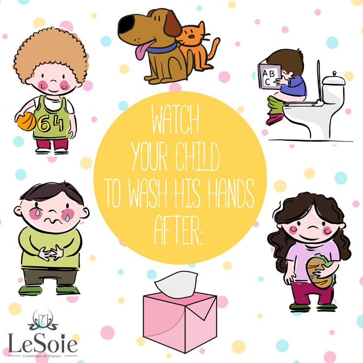 Watch your #child to wash his hands after: 1) Playing with pets 2) Using the bathroom 3) Sneezing, blowing their nose and coughing 4) Touching a cut or open sore 5) Playing outside 6) BEFORE eating Discover #LeSoie Joie #Kids Hand Wash Collection!