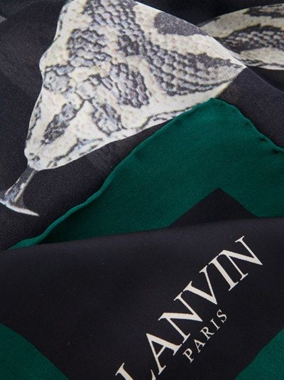 Lanvin Snake Print Silk Georgette Scarf  65 cm x 225 cm Available from Changing Room on Far Fetch.
