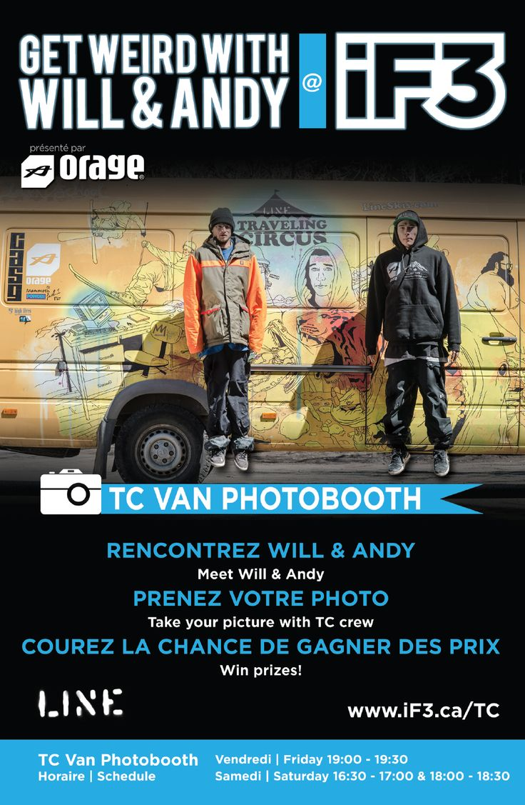 Get Your Photo with Will & Andy @TC Van PhotoBooth during the iF3 Montréal
