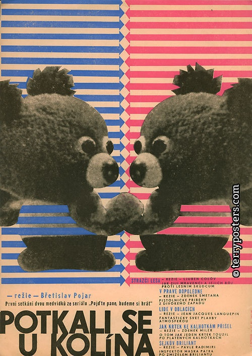 HOW THEY MET AT KOLIN: Břetislav Pojar Animated films poster: Czechoslovakia, 1966