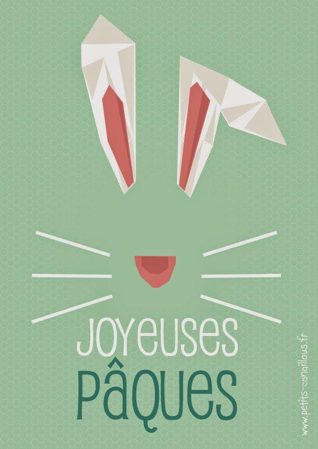 Cartes Joyeuses Pâques à imprimer gratuitement par petits-canaillous.fr Printable, lapin, cartes, pâques, easter