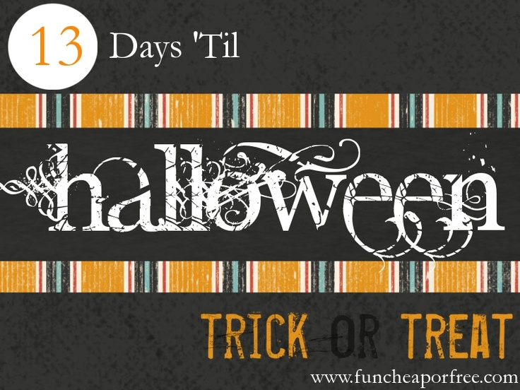 Countdown to Halloween: Fun, cheap, free, and CREATIVE Halloween costume ideas!