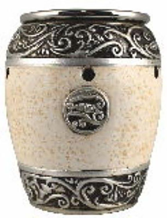 Vern Yip Silver Ivory Finish Decorative Electric Oil and Wax Candle Melt Warmer #VernYip