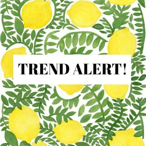 Breakfast with Cupcakes: Trend alert!: Estampado de limones