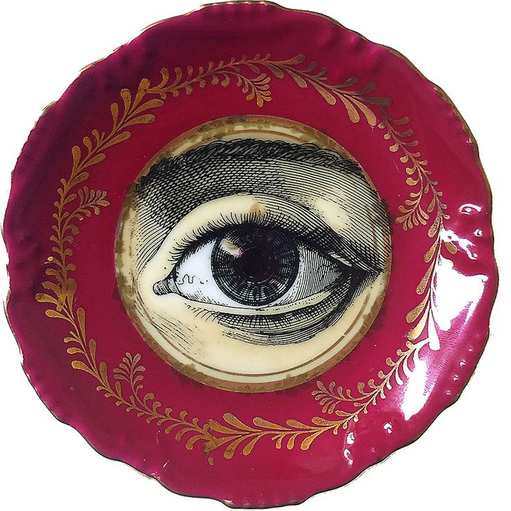 Oculus - Eye - Vintage Porcelain plate - #0066 Limited Edition by ArtefactoStore on Etsy