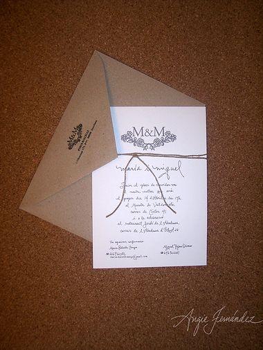 Invitaciones de boda Angie Fernandez