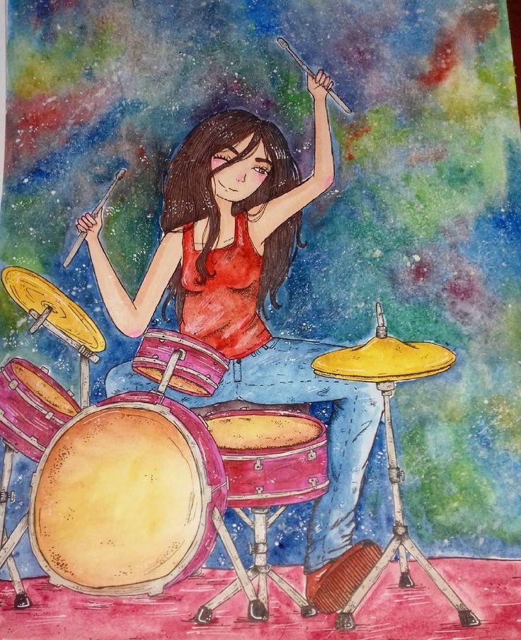 "42 Me gusta, 1 comentarios - Ñaña (@ferniska) en Instagram: ""terminé (?) #watercolor #acuarela #aquarelle #artistoninstragram #arte #artgallery #draw #drawgram…"""