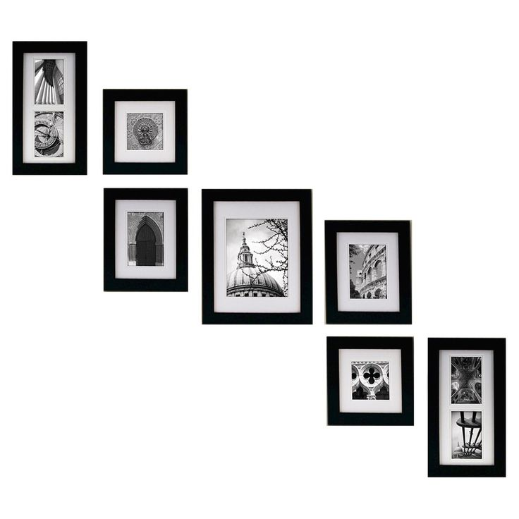 Keep it simple with these Classic Picture Frames that let the subject matter of the photo shine through. This set makes it possible to have matching frames for a clean, consistent look on your wall. They are made of hardwood, and have a glass covering, and are self-leveling. Each one can be hung horizontally or vertically, and comes with mounting hardware.