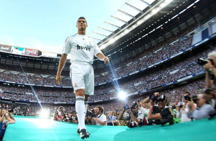 8 Years Ago Today #Cristiano #Ronaldo Was Introduced In Front Of A Record 80,000 People. #CristianoRonaldo #soccerplayers #soccer