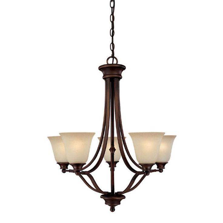 Capital Lighting 3415-287 Belmont 5 Light 1 Tier Linear Chandelier Burnished Bronze Indoor Lighting Chandeliers