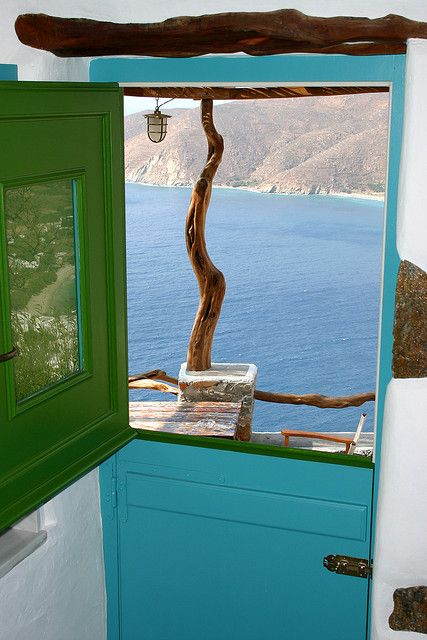 View in Amorgos, Greece