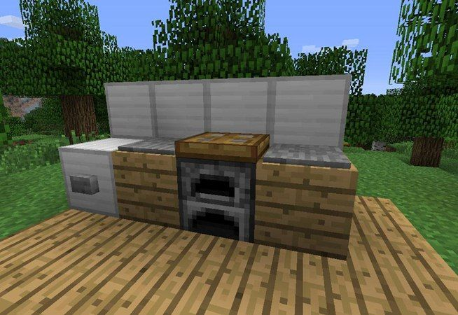 How to make furniture in minecraft minecraft minecraft for Kitchen ideas minecraft