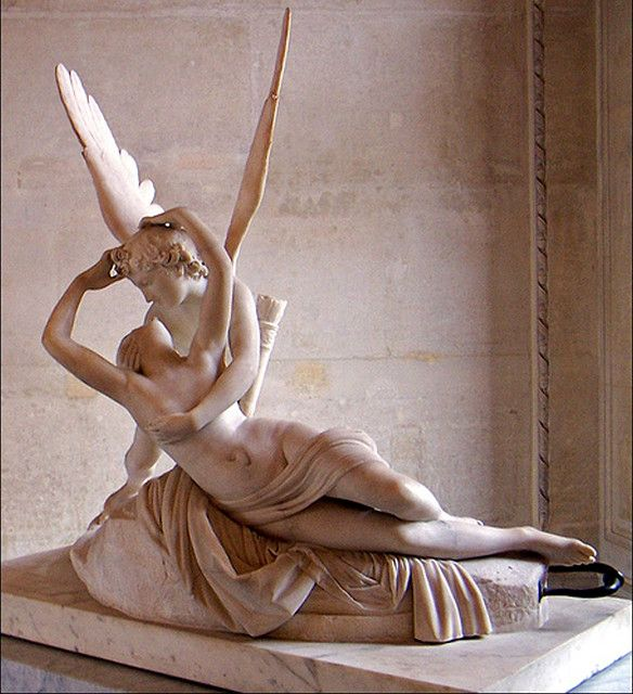 Antonio Canova - Psyche Revived by Cupid's Kiss, Louvre Museum, Paris