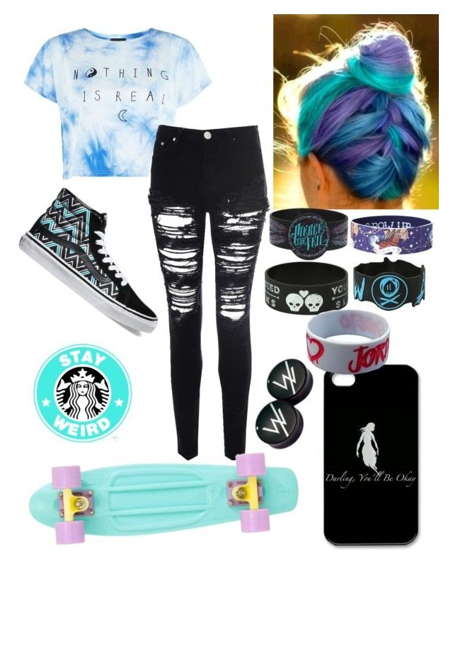 """☁︎I Want To Learn How To Penny Board☁︎"" by anime-pocky ❤ liked on Polyvore"