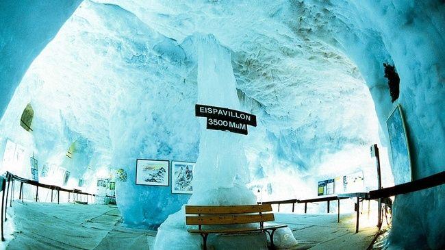 Grotte de glace de Mittelallalin - Saas Fee