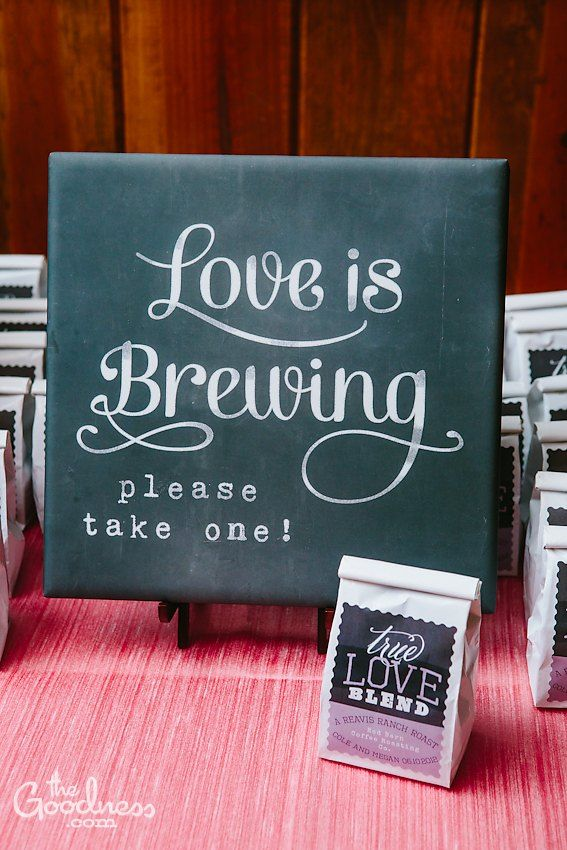 wedding reception decor coffee favors alex jones jones stuerke does sean like coffee or tea because this is about the cutest idea e