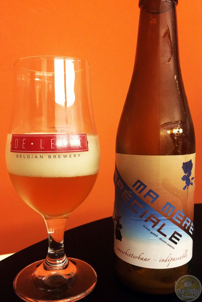31-Aug-2015: Ma Mère Speciale by Brouwerij De Leite. A sour, Belgian Pale Ale from Ruddervoorde, Belgium. A beer made special by the brewer as a surprise for the 80th birthday of his mother. There may have been a slight infection in this batch, but it was still enjoyable, and with the story to go along with it! #ottbeerdiary #ebbc15