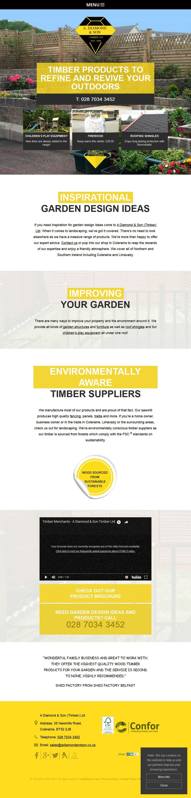 A Diamond & Son (Timber) Ltd Timber Merchants Importers & Agents 35 New Mills Road   Coleraine County Londonderry BT52 2JB   To get more infomration about A Diamond & Son (Timber) Ltd, Location Map, Phone numbers, Email, Website please visit http://www.HaiUK.co.uk