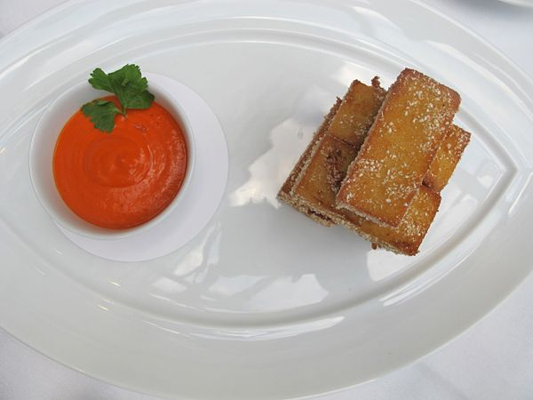 "Panisses (chickpea ""fries""), Piquillo Ketchup"