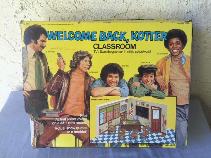 Welcome Back, Kotter Classroom Playset Mattel New In Box 1976