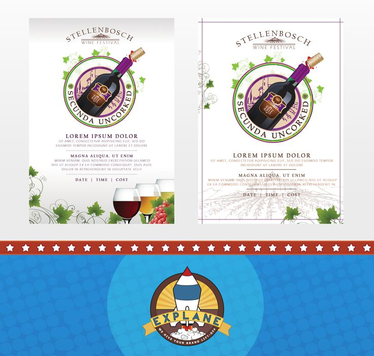 Flyer Design for the Secunda Wine Festival { A5 Flyer One-Sided Print }