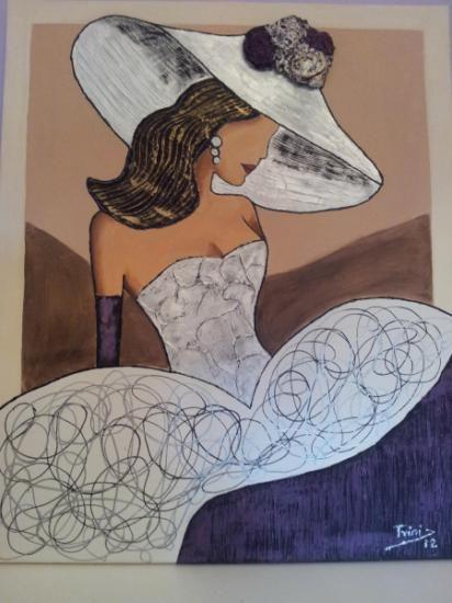 cuadros meninas modernas  acrilicos,pintura de relieves,pasta relieve