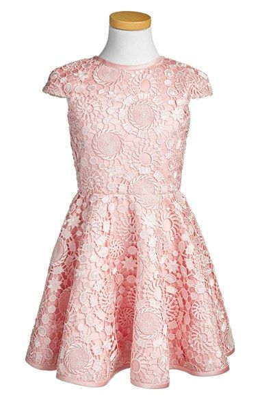 Alivia Simone 'Pink Poppy' Lace Party Dress (Toddler Girls, Little Girls & Big Girls) available at #Nordstrom