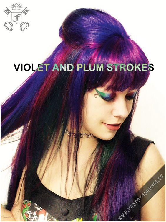 Coloring hair balsam - Plum. Made by Directions. #haircolor #brighthair #directions #lariche #gothichair #hairfashion #hairspiration #gothichairstyle #coloredhair #hairdye #hairdye #brighthair #girlwithdyedhair | Fantasmagoria.eu - Gothic Fashion boutique
