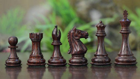 La serie de Staunton había ponderado piezas de ajedrez de