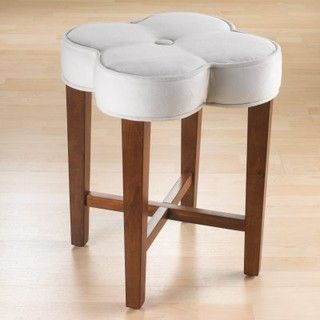 Clover Vanity Stool - modern - ottomans and cubes - by Hayneedle