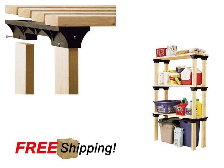 2x4 Basics - Shelflink, Black 1 Pack Of 6 Custom Home Storage System Black | eBay