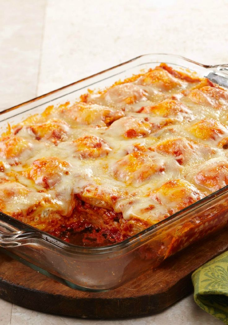 Weeknight Ravioli Bake – Layers of frozen ravioli are the not-so-secret star of this bubbly, cheesy, lasagna-like bake recipe. It's easy to assemble on even the busiest of weeknights!