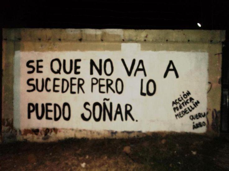 Se que no va a suceder pero lo puedo soñar #Acción Poética Medellín #accionpoetica