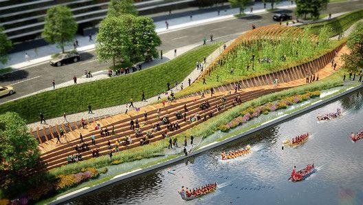 "The Building Centre Presents ""Rethinking the Urban Landscape"",Zigong Dongxingsi. Image © Martha Schwartz Partners"