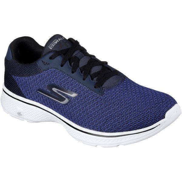 Skechers Men's Skechers Gowalk 4 Blue - Skechers Performance Sneakers ($70) ❤ liked on Polyvore featuring men's fashion, men's shoes, men's sneakers, blue, skechers mens shoes, mens blue sneakers, mens shoes, mens blue shoes and mens mesh shoes