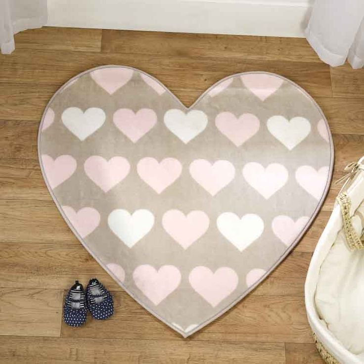 The Heartfelt Rug By Flair Nursery Collection Has A Pink And Cream Heart Design On