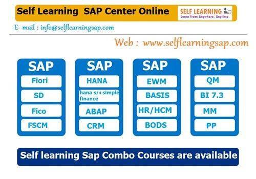 Learn any SAP Course @ 99 $ Only !  - http://www.selflearningsap.com/  We have the training solutions for the modules like SAP SD, CRM, QM, FIORI , BPC10 , HANA S4 simple finance, MM , ABAP, FICO, APO, WM, EWM , BO 4.1 , BI 7.3, PI 7.4,PP, HR/HSM , BASIS HANA , ABAP Webdynpro & OOPs.