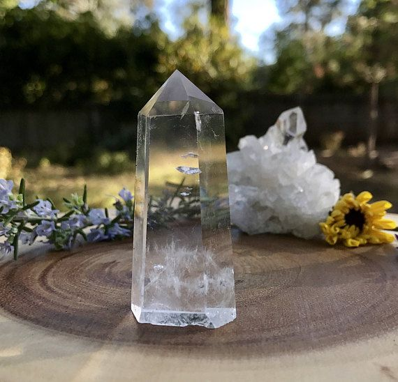 Clear Quartz Crystal Point Chakra Healing Cleansing