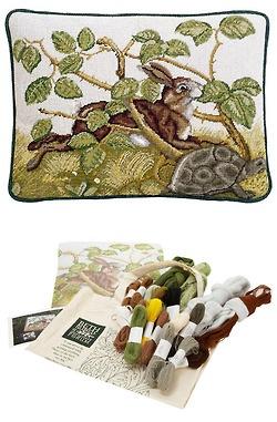 Hare and Tortoise needlepoint kit