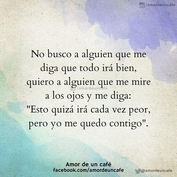 Así soy yo y me quedo contigo...