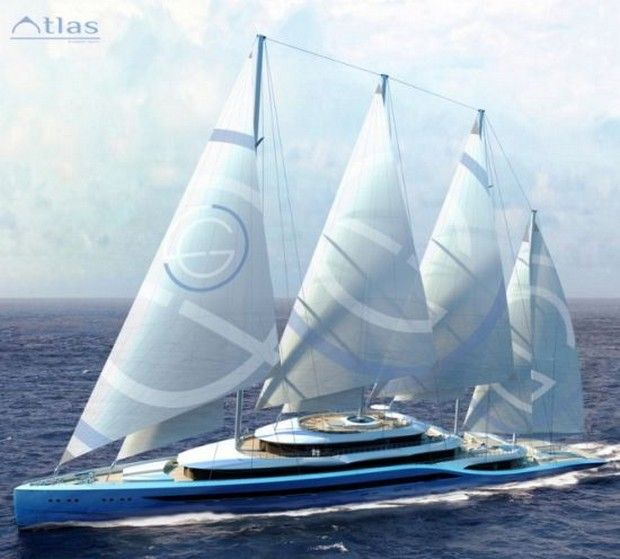 H2 Yacht Design's Project Atlas Superyacht