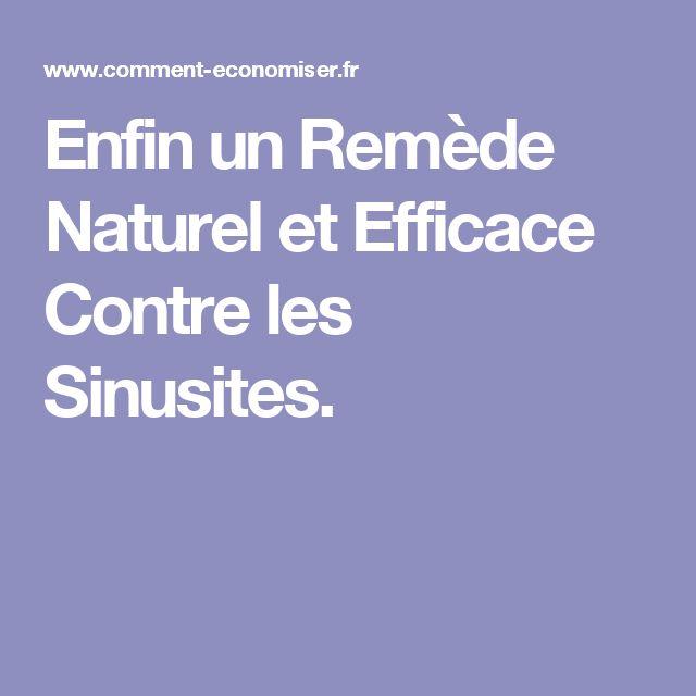 Enfin un Remède Naturel et Efficace Contre les Sinusites.