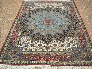 Hand Woven Ardabil Design Tabriz Persian Rugs One of A Kind 6' x 9' Second Rug | eBay