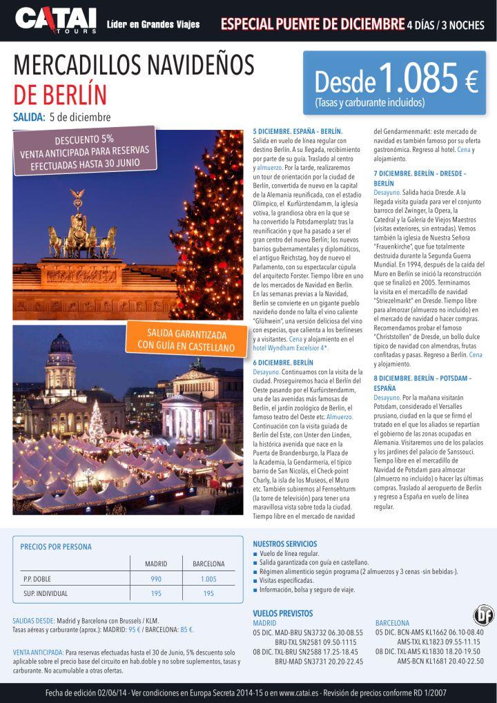 Puente dic: 5%VA hasta 30 junio! Mercadillos de Navidad en Berlín, sal 5dic, 4d/3n desde 1.085€ ultimo minuto - http://zocotours.com/puente-dic-5va-hasta-30-junio-mercadillos-de-navidad-en-berlin-sal-5dic-4d3n-desde-1-085e-ultimo-minuto/