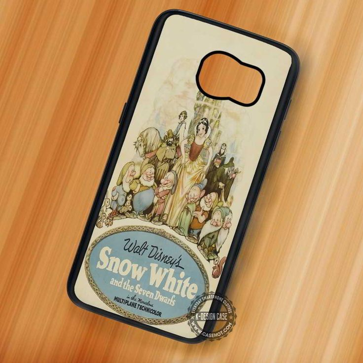 Vintage Poster Snow White - Samsung Galaxy S7 S6 S5 Note 7 Cases & Covers