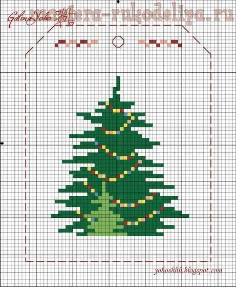 Схема для вышивки крестом: Новогодняя гирлянда+2