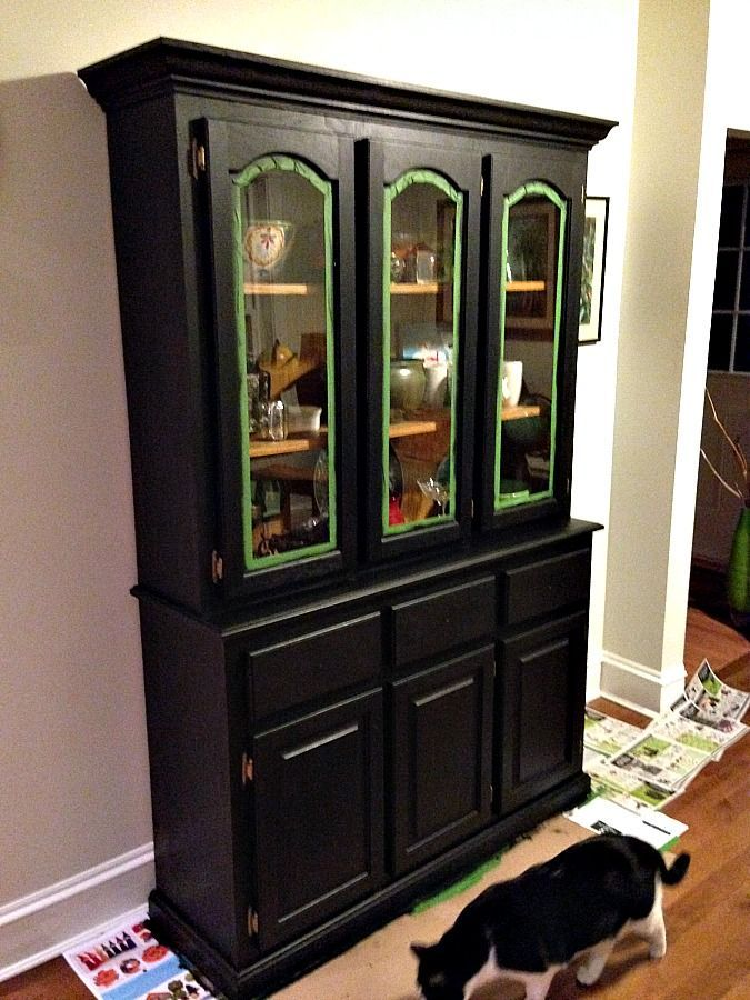 China Cabinet Revitalized With Fusion Mineral Paint China Cabinets China And Refinished Dressers